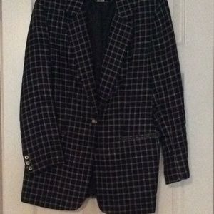 Black & white linen jacket, Jennifer Moore, 10